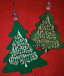 embroidered christmas christmas ornament accuquilt and sizzix meet machine embroidery