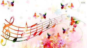 musical notes butterflies wallpaper hd cute wallpapers clip
