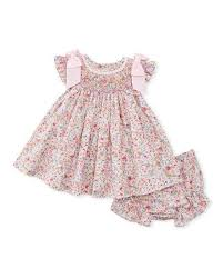floral print smock dress w bloomers size newborn 9m floral and