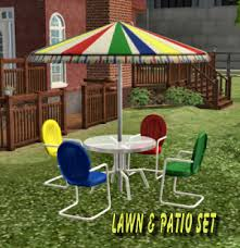 Retro Metal Patio Chairs Mod The Sims