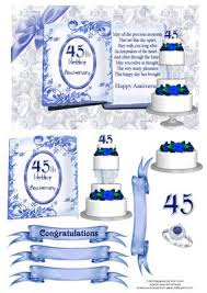 45 wedding anniversary 45th sapphire wedding anniversary cup92103 543 craftsuprint