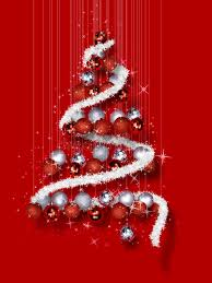 tree made of ornaments on background stock image