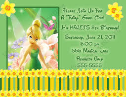 Birthday Invitation Card Maker Awesome Tinkerbell Invitation Card 83 With Additional Invitation