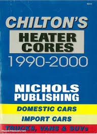chilton 1990 2000 heater core installation manual