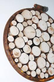 wood slice wall sculpture rustic wall tree ring metal