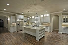 classic kitchen design with white wooden pottery barn marble top