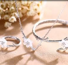 ring bracelet necklace images Sakura style set open tail ring bracelet necklace jewme jpg