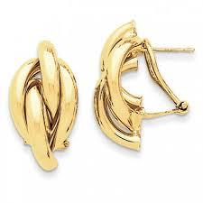 gold back earrings gold omega back earrings