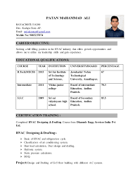 Sample Resume For Air Conditioning Technician by Hvac Resume Resume Cv Cover Letter