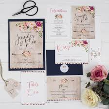 wedding invitation set boho floral wedding invitation set lilah