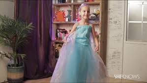 Frozen Costume Halloween Diy Elsa From Frozen Costume Video