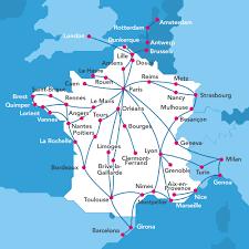 Lyon France Map Tgv Frankreich Mit Dem Zug Oui Sncf