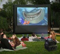 Backyard Outdoor Theater Cinebox Pro 12 U0027 X 7 U0027 Home Backyard Outdoor Theater System