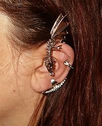 one ear earring unique earring for one ear bold connection
