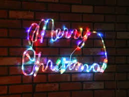 led multi merry sign