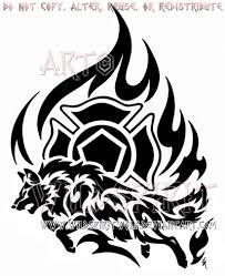 firefighter tribal wolf design by wildspiritwolf on deviantart