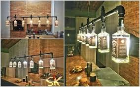 interior design in home photo ideas for home bar 1 a chandelier created from whiskey bottles and