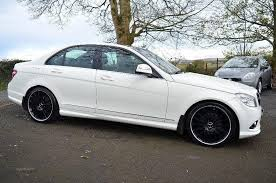 mercedes c63 amg alloys 2008 mercedes c220 c63 amg alloys white auto 80k in