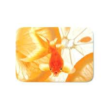 Fish Bath Rug Orange Bath Rug Orange Bath Mats Orange Fish Bath Mat By Orange