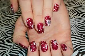acrylic nails l christmas snowflakes u0026 stars l nail design youtube