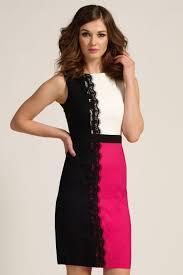 black white u0026 pink contrat lace panel bodycon dress