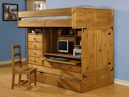 Amazon Com Bunk Bed All In 1 Loft With Trundle Desk Chest Closet by Bunk Beds With Storage And Trundle Storage Decorations