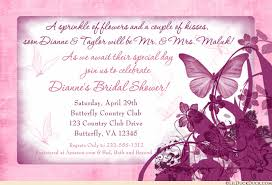 butterfly kisses bridal shower invitation pink
