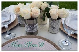 Set The Table Diy Beautiful Vintage Wedding Centerpieces Using Canned Goods