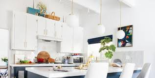kitchen cupboard overhead lights 14 ideas for decorating space above kitchen cabinets how