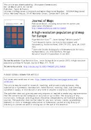 Grid Map A High Resolution Population Grid Map For Europe Pdf Download