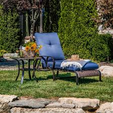 Lazy Boy Outdoor Patio Furniture by La Z Boy Outdoor Kinsley Chaise Lounge Denim Limited