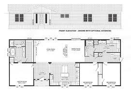 3 bedroom floor plan b 6017 hawks homes manufactured