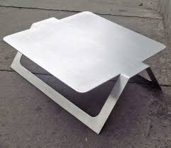 sheet metal coffee table pedro ramirez vazquez metal coffee table rare sheet metal metals