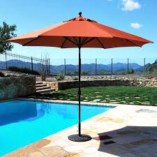 Discount Patio Umbrellas Galtech Sunbrella 11 Ft Maximum Shade Deluxe Aluminum Auto Tilt