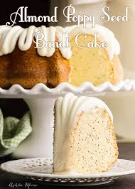 almond poppy seed bundt cake recipe and video ashlee marie