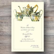 bridal tea party invitation sheffield plate tea party invitations celebration bliss