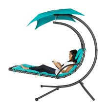 Outdoor Reading Chair Best Choice Products Hanging Chaise Lounger Chair Arc Stand Air