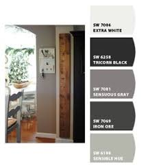 sherwin williams requisite gray and peppercorn with accent colors