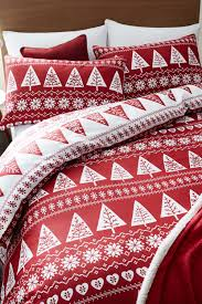 Double Christmas Duvet Nordic Trees Double Bedding Set Red White Double Bhs