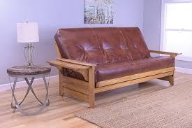 amazon com phoenix full size futon butternut wood with bonded