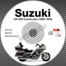 1986 1990 suzuki gv1400 cavalcade models service manual cd rom