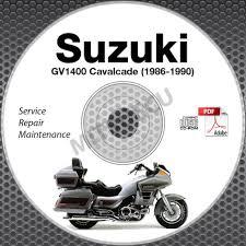 1986 1990 suzuki gv1400 cavalcade models service manual cd rom
