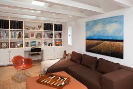 Room With Desk Wall Unit Desk Home Office Contemporary With Artwork Built In