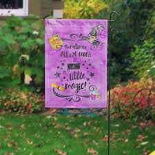halloween yard flags all we need is a litle magic halloween garden flag halloween