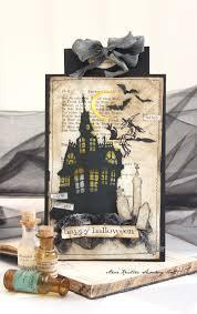 halloween card ideas tim holtz haunted house die halloween card tim holtz pinterest