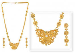 new gold set gold necklace set ajns50772 22k gold necklace earrings