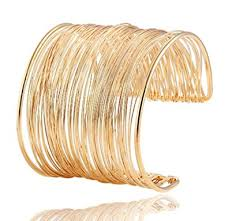 cuff bracelet with gold images Wire metal coil thin cuff bracelet gold jewelry jpg