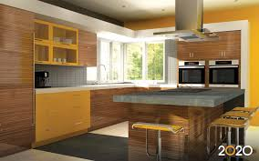 Kitchen  Yellow Bar Stool And Brown Kitchen Table Plus Brown Wood - Kitchen sink paint