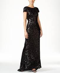 calvin klein sequined cap sleeve gown dresses women macy u0027s