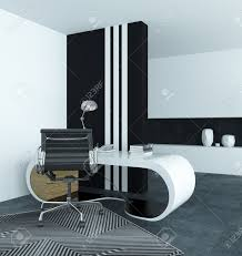 Modern White Desk by Curved Modern White Desk In A Study With A Dramatic Black And